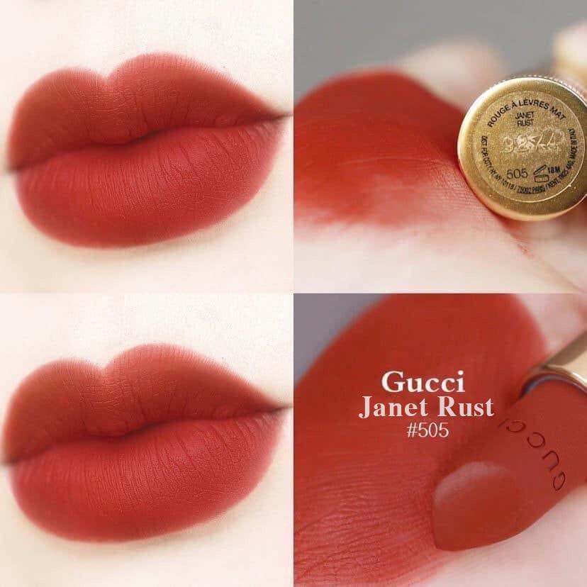 Chất son siêu mịn của son lì Gucci 505