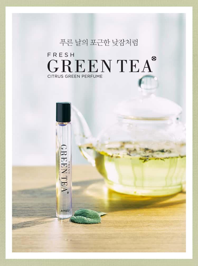 Review nước hoa dạng lăn A'pieu hương Green Tea